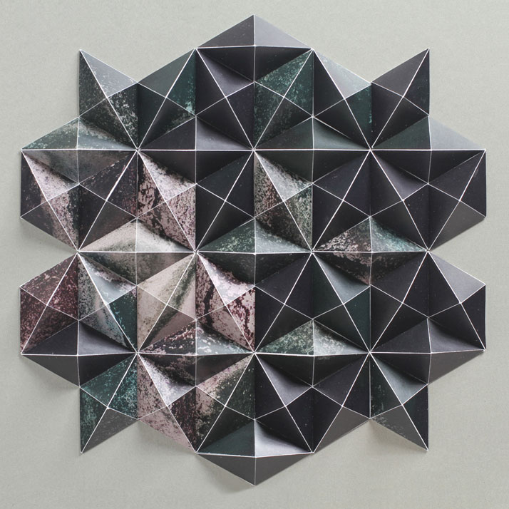 ALEATORIC 3 (detail), 2012; paper 11 x 15 x 1 1/2 inches. Photo by Cullen Stephenson.