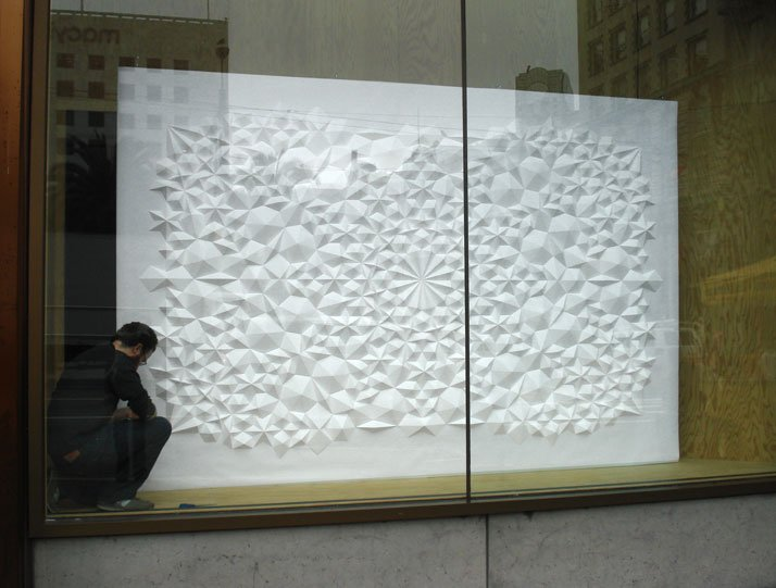 Shlian for Levi's, 2012; paper 14 x 8 feet. Photo courtesy of the artist.
