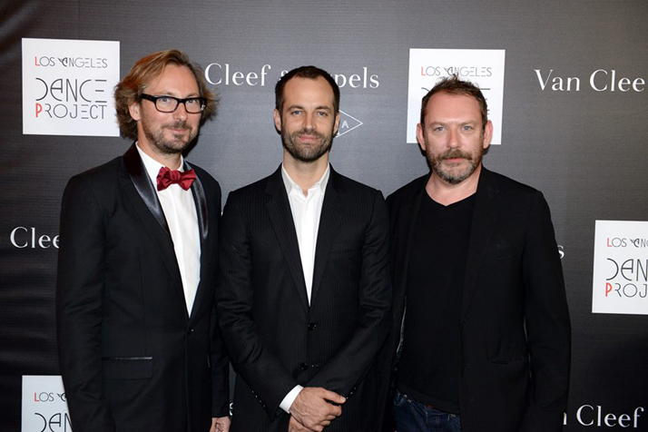 ''Hearts & Arrows'' ballet Première by L.A. Dance Project and Benjamin Millepied // Nicolas Bos, President & CEO of Van Cleef & Arpels, Benjamin Millepied, Founder L.A. Dance Project and Liam Gillick, Visual Concept Artist. Photo by DOMINO ARTS.