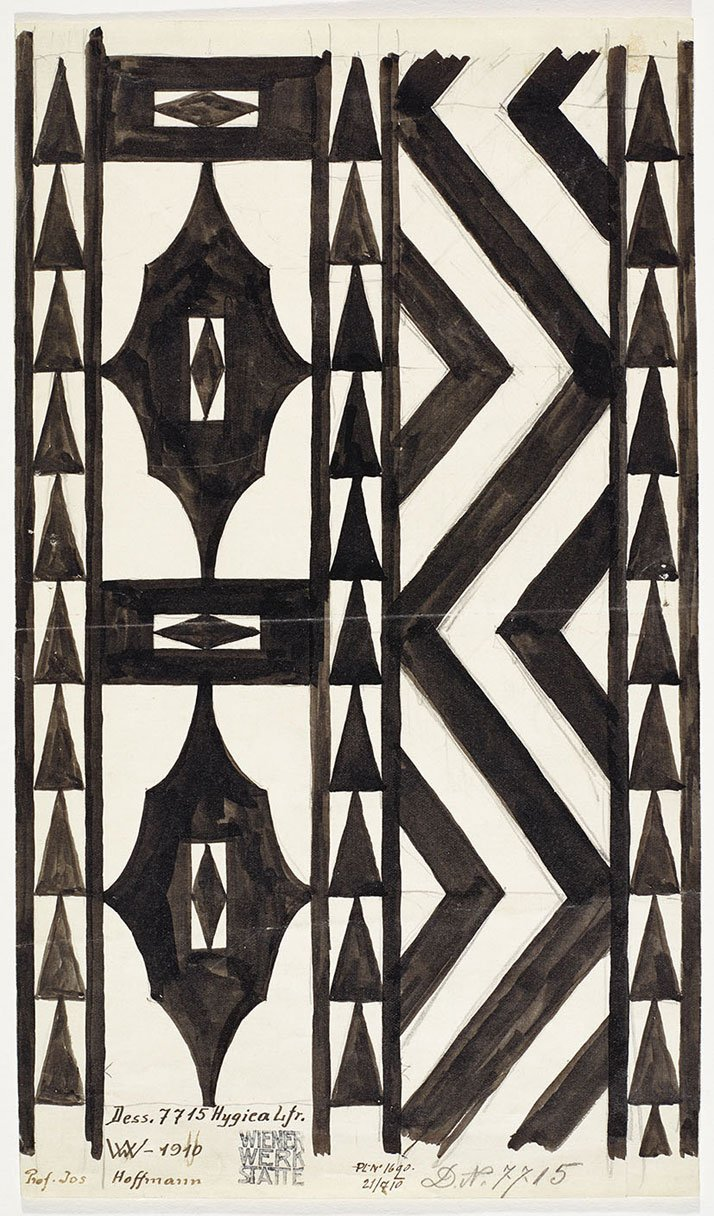 Josef Hoffmann. Design for a runner Hygica for the Wiener Werkstätte, pattern no. 7715, 1910. Backhausen GmbH. Photo © MAK/Georg Mayer.