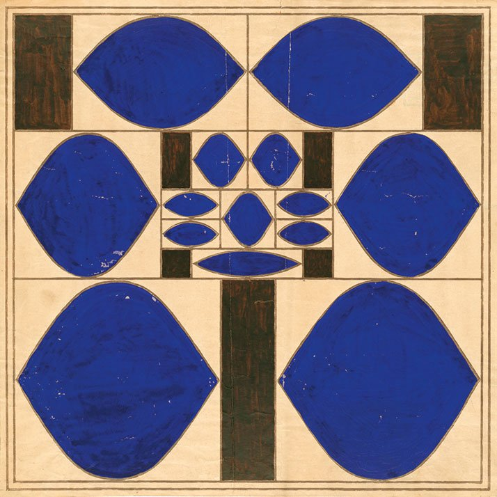 Josef Hoffmann: pillowcase design, 1909.