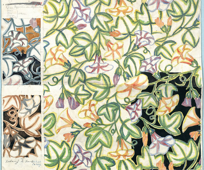 Josef Frank: Fabric design for the Wiener Werkstätte, ca. 1918. Photo © MAK/Georg Mayer.