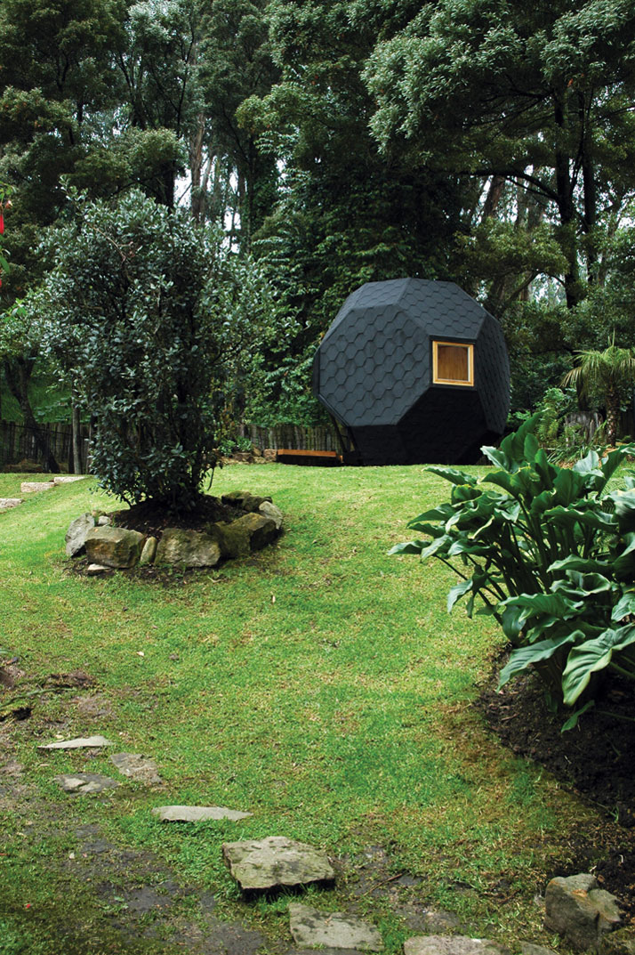 Polyhedron Habitable by Manuel Villa Architects in Bogota, Colombia, from the book Rock the Shack. Photography: Manuel Villa. Copyright Gestalten 2013.