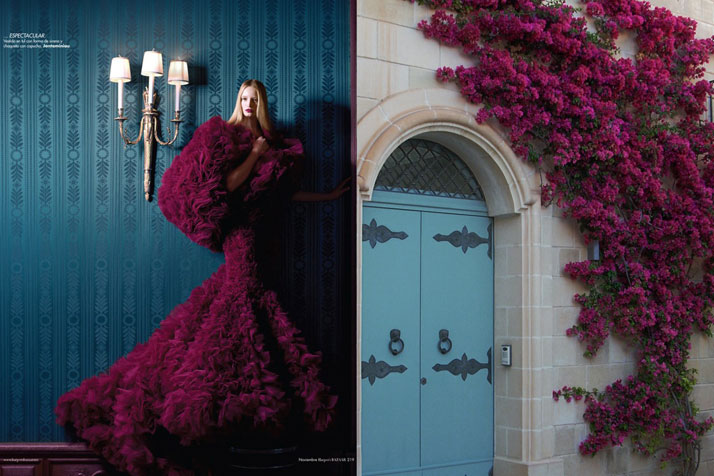 "Match #67Maud Welzen in ""In My Castle"" for Harper's Bazaar November 2012 by Benjamin Kanarek wearing Jantaminiau 
