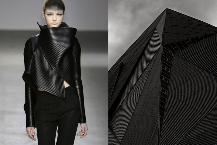 Match #81Gareth Pugh RTW Fall 2010 | Building in Singapore photographed by HAFIZUDDIEN JU