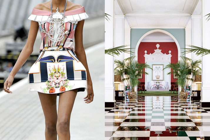 Match #207Details at Mary Katrantzou Spring 2011 | Interiors at the Greenbrier Resort in White Sulphur Springs, West Virginia