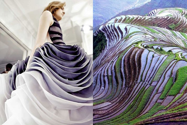 Match #145Details backstage at Christian Dior Haute Couture Spring 2012 | Terraced rice fields in Yunnan, China