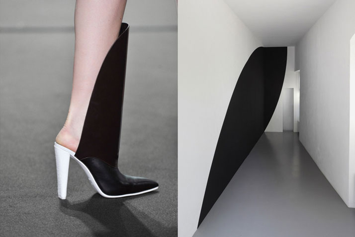 Match #161Shoes at Alexander Wang Fall 2014 | Radius by Neil Campbell, acrylic on wall, 2011