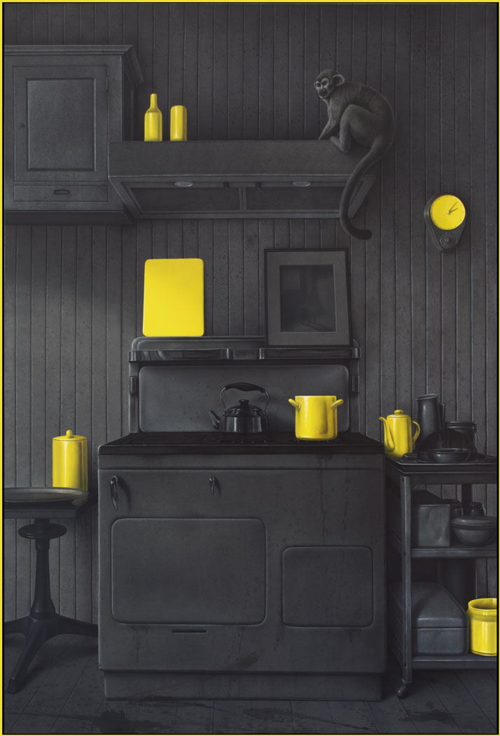 Eckart Hahn, Kitchen, 2014. Acrylic on canvas, 190 x 130 cm. Photo courtesy of Wagner + Partner Berlin.