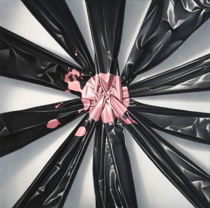 Eckart Hahn, Fleur de Nuit, 2011. Acrylic on canvas, 50 x 50 cm. Photo courtesy of Wagner + Partner Berlin.