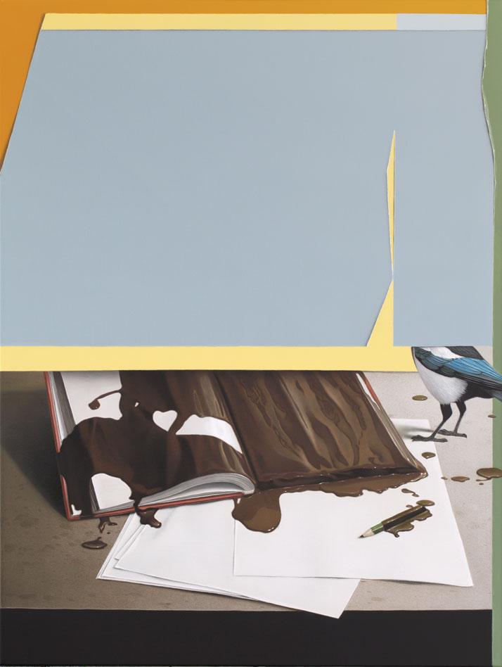 Eckart Hahn, Diary, 2014. Acrylic on canvas, 80 x 60 cm.Photo courtesy of Wagner + Partner Berlin.