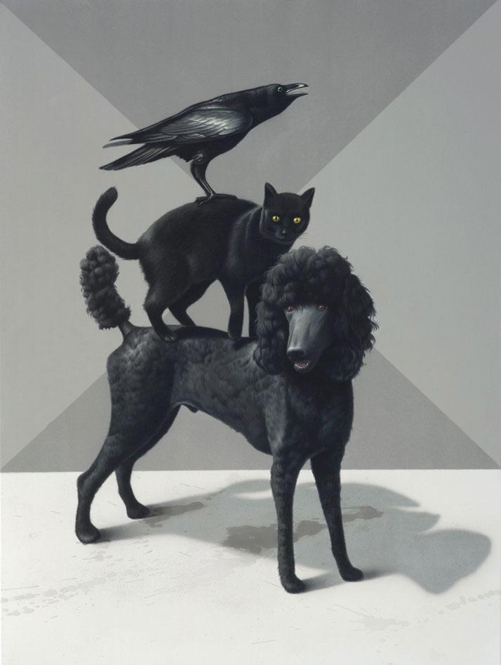 Eckart Hahn, Tale, 2011. Acrylic on canvas, 80 x 60 cm. Photo courtesy of Wagner + Partner Berlin.