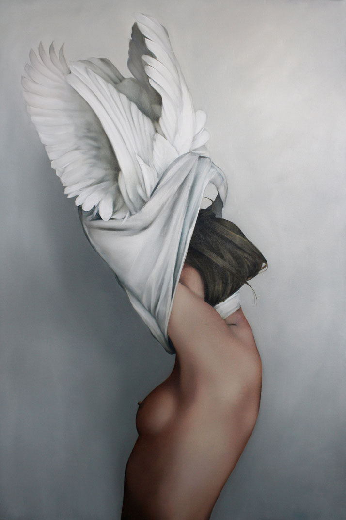 Angels or Goddesses? Avian Paintings by Amy Judd / Yatzerized on 08 January 2015.