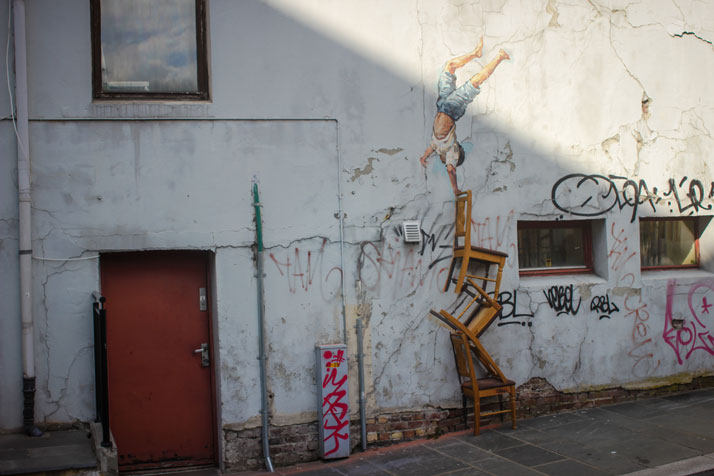 Stavanger, Norway, Nu Art Festival 2013. Photo courtesy of Ernest Zacharevic.