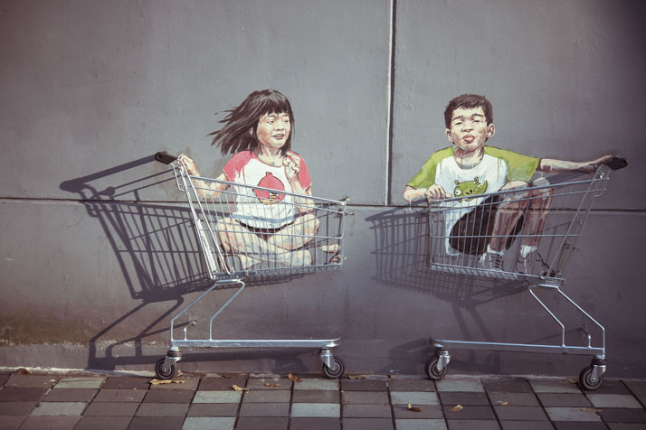 Singapore, 2013. Photo courtesy of Ernest Zacharevic.