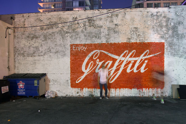 Enjoy Graffiti, Los Angeles. Photo courtesy of Ernest Zacharevic.