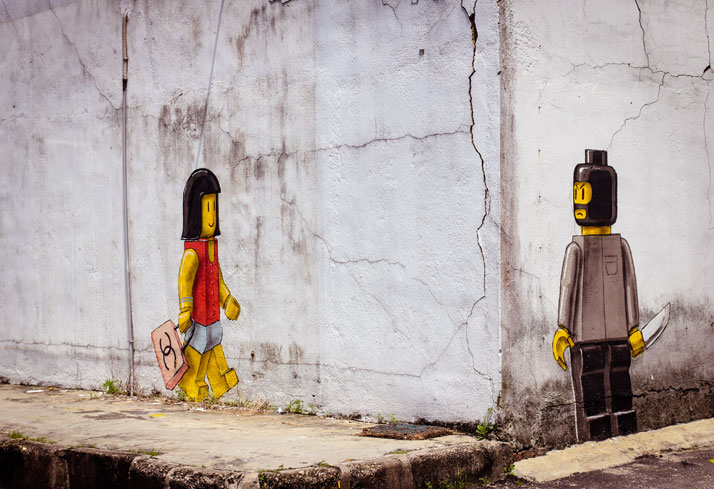 Lego, Johor Baru 2013. Photo courtesy of Ernest Zacharevic.