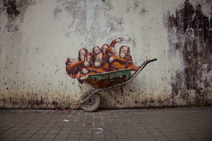Kutching, 2014. Photo courtesy of Ernest Zacharevic.