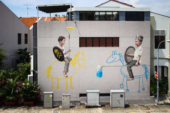 Style Wars, Singapore, 2013. Photo courtesy of Ernest Zacharevic.