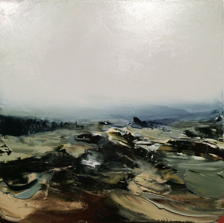 Aaron Kinnane, While I Watch You Sleep in the Light of Mist and Rain, Barrington Tops II, 2014. Oil on canvas. Courtesy of Arthouse Gallery Sydney.