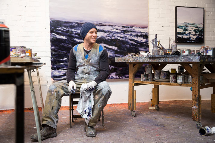 Aaron Kinnane in his studio. Photo © Aaron Kinnane.