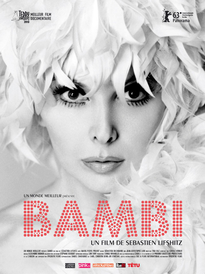 FASHION ON SCREEN: Saturday 21 March 2015, 17:00.BAMBI, 2013 (58 minutes)Directed by Sébastien Lifshitz, Marie-Pierre Pruvot.