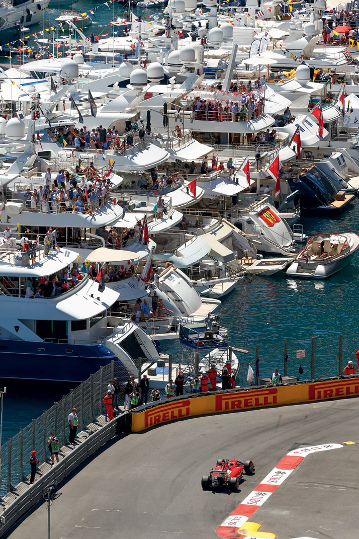 Photo from the book The Stylish Life - Yachting, published by teNeues. FIA Formula One World Championship 2014, Grand Prix of Monaco, Photo © Hoch Zwei/Corbis.