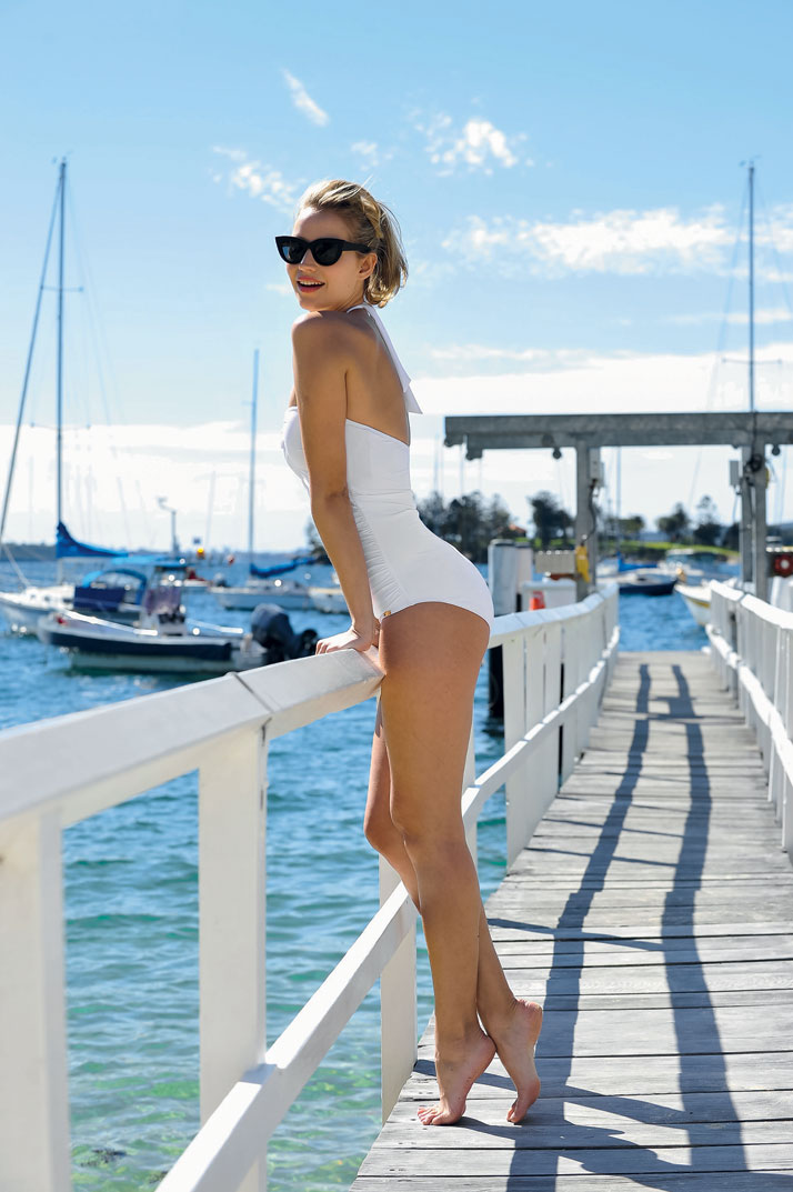 "Photo from the book The Stylish Life - Yachting, published by teNeues. Danielle Wallace partners with Jantzen to create ""Place In The Sun"" 100th anniversary collection, Photo © W. Teodoro/Zeduce/Robert Wallace/Splash news/Corbis."
