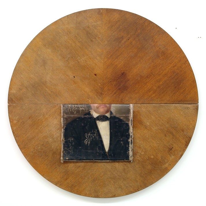 Peter Buechler, John, 2014. Objets trouvés, diameter 110 cm. Photo courtesy of the artist.