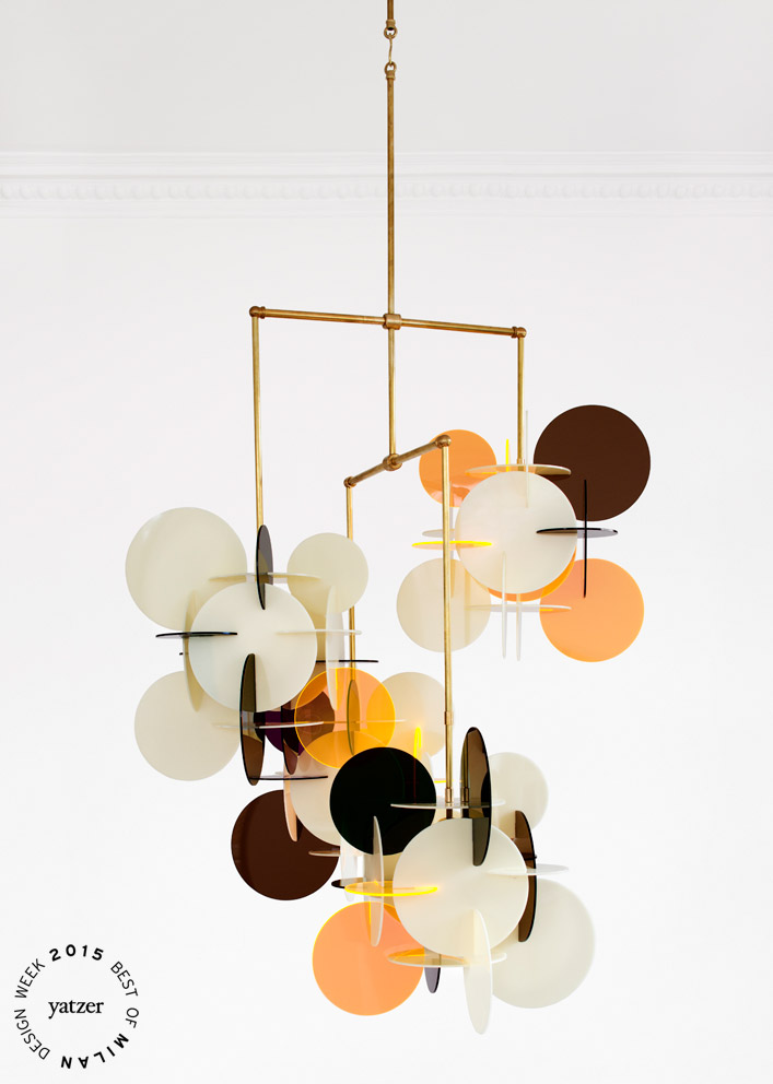 DICIOTTO x 4 Chandelier by Vibeke Fonnesberg Schmidt for Nilufar gallery.