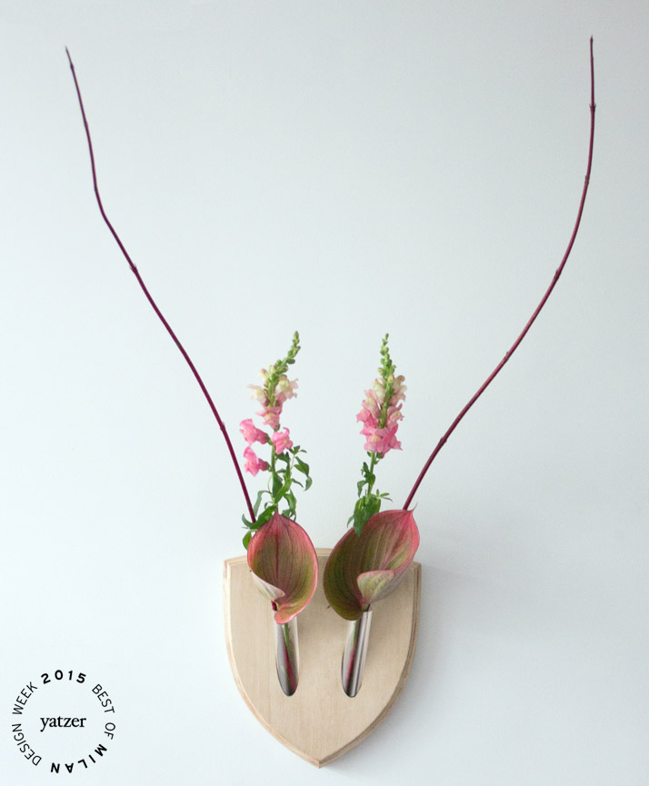 Elkebana flower trophies by Fabio Milito & Paula Studio.(spotted on: CROWDY HOUSE at Ventura lambrate).