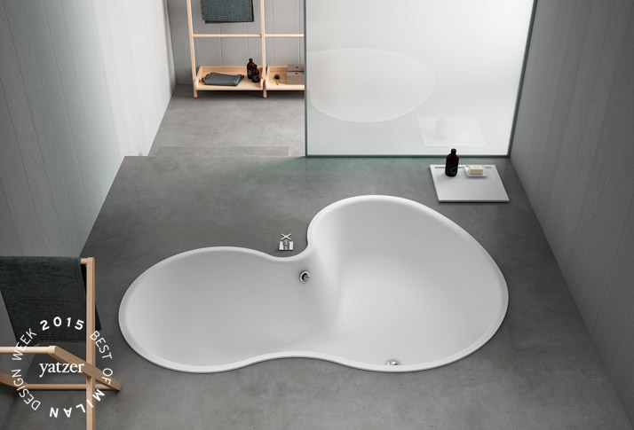 DR bathtub by Studio Mk27 / Marcio Kogan , Mariana Ruzante, for AGAPE.