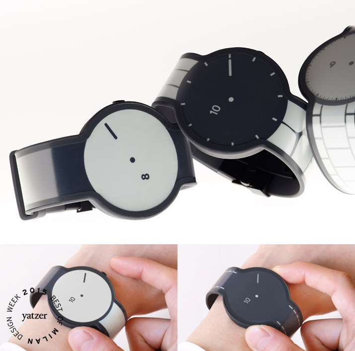 The FES Watch is a revolutionary new watch created using electronic paper for the watch face and strap.   The wearer can select the display pattern of their choice from 24 different options. The FES Watch is scheduled to officially go on sale in 2015. (spotted on Ventura lambrate).