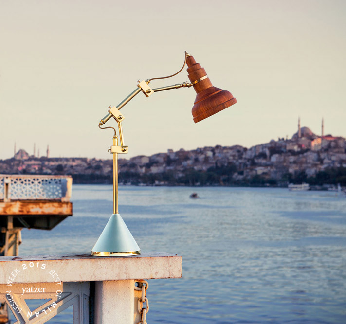 Table lamp by KONTRA (Istanbul, Turkey).