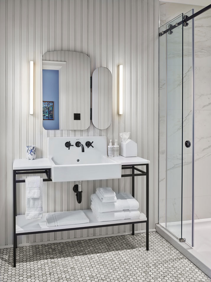 Urban hip hits the countryside at drake devonshire inn in - Bathroom vanities ontario canada ...