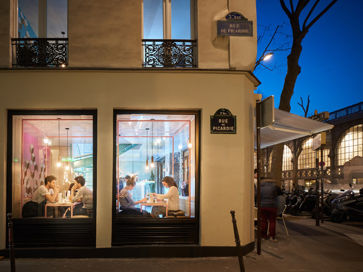 Pny restaurant in the marais paris by cut architectures for Articles cuisine paris