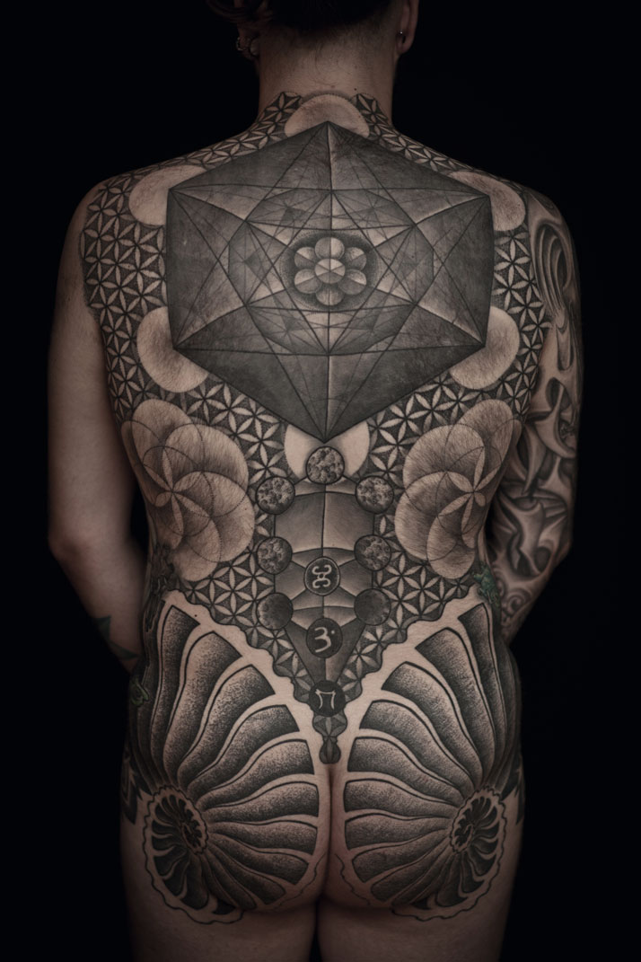 Tattoo art by Thomas Hooper, 2011. From the book 'Forever: The New Tattoo'. Copyright Gestalten 2012.