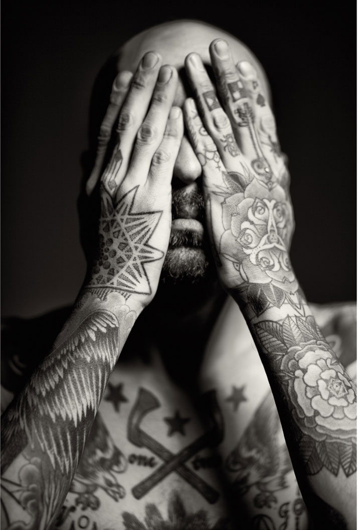Liam Sparkes, 2009. Photography. Tattoo by Emily Hope. From the book 'Forever: The New Tattoo'. Copyright Gestalten 2012.