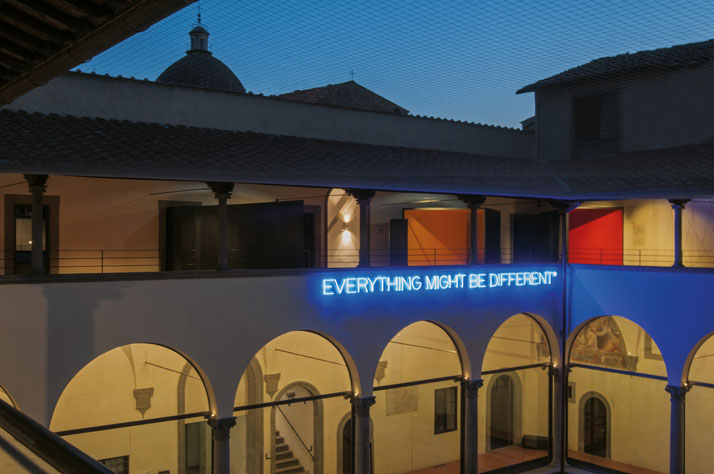 Maurizio Nannucci, Everything might be different, 2014. Museo del 900, Firenze. Photo by Cesare Dagliana.