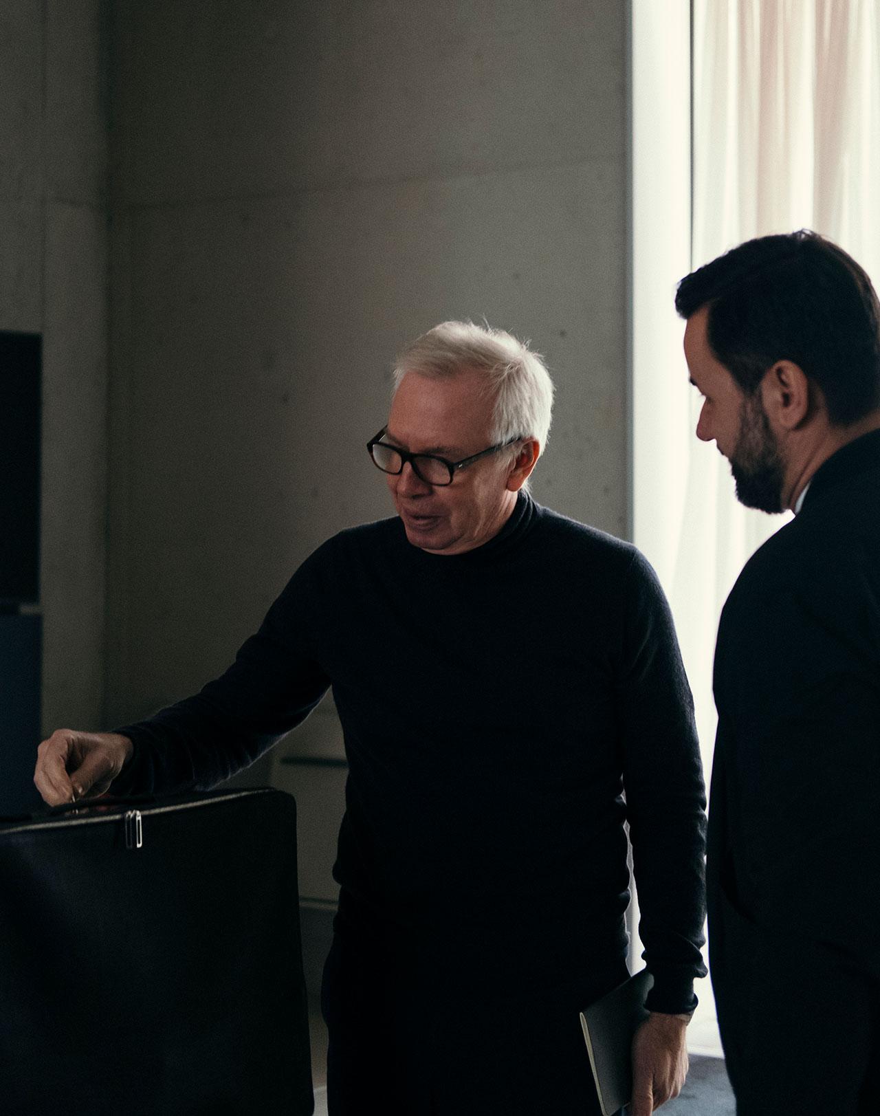 Sir David Chipperfield and Dimitrios Tsatsas. Photo © Alexander Kilian, Berlin