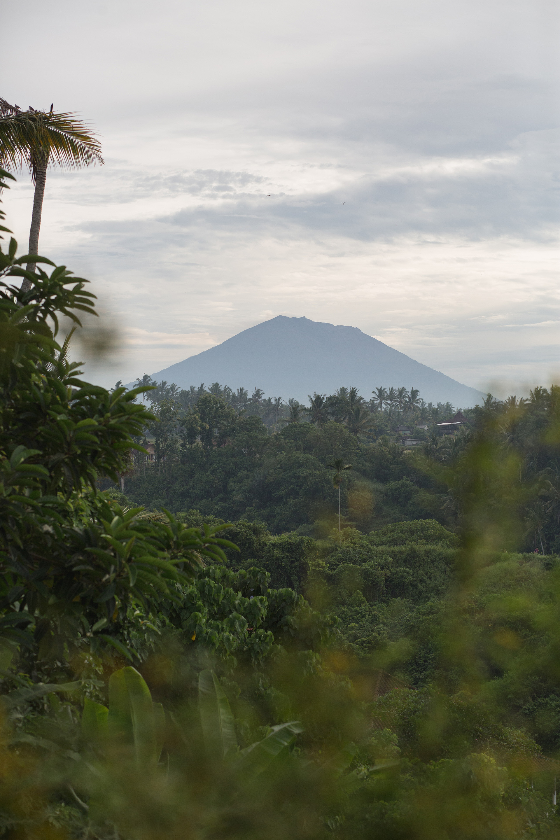Gunung Agung, the holy volcano of Bali. Photo by Tommaso Riva. Styling by Lisa Scapin.