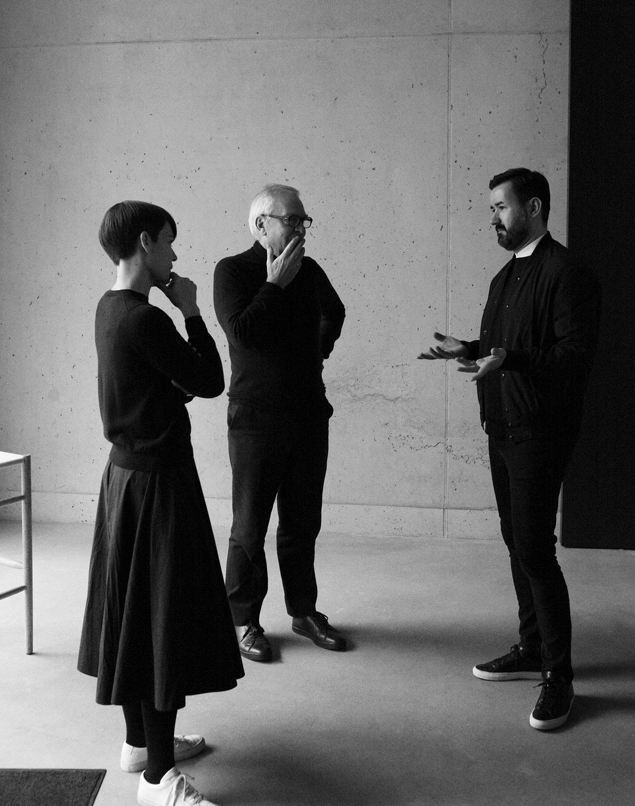 Esther Schulze-Tsatsas,Sir David Chipperfield and Dimitrios Tsatsas. Photo © Alexander Kilian, Berlin