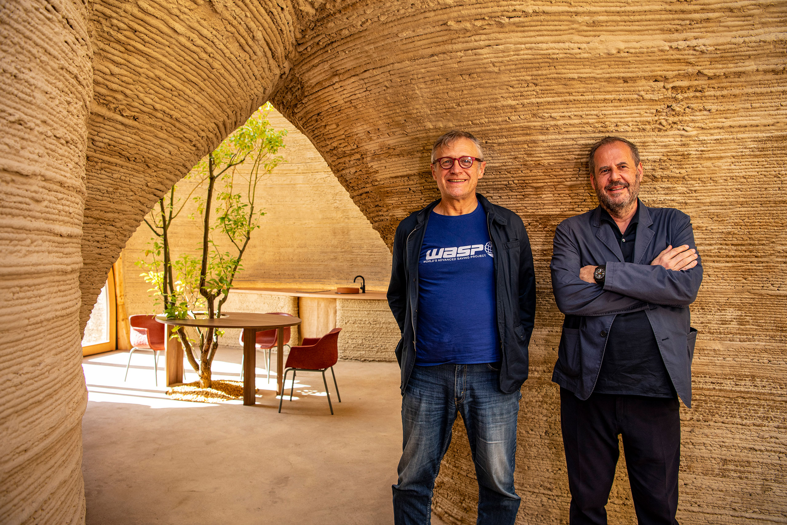 WASP CEOMassimo Moretti and ArchitectMario Cucinella.Photo by Iago Corazza.