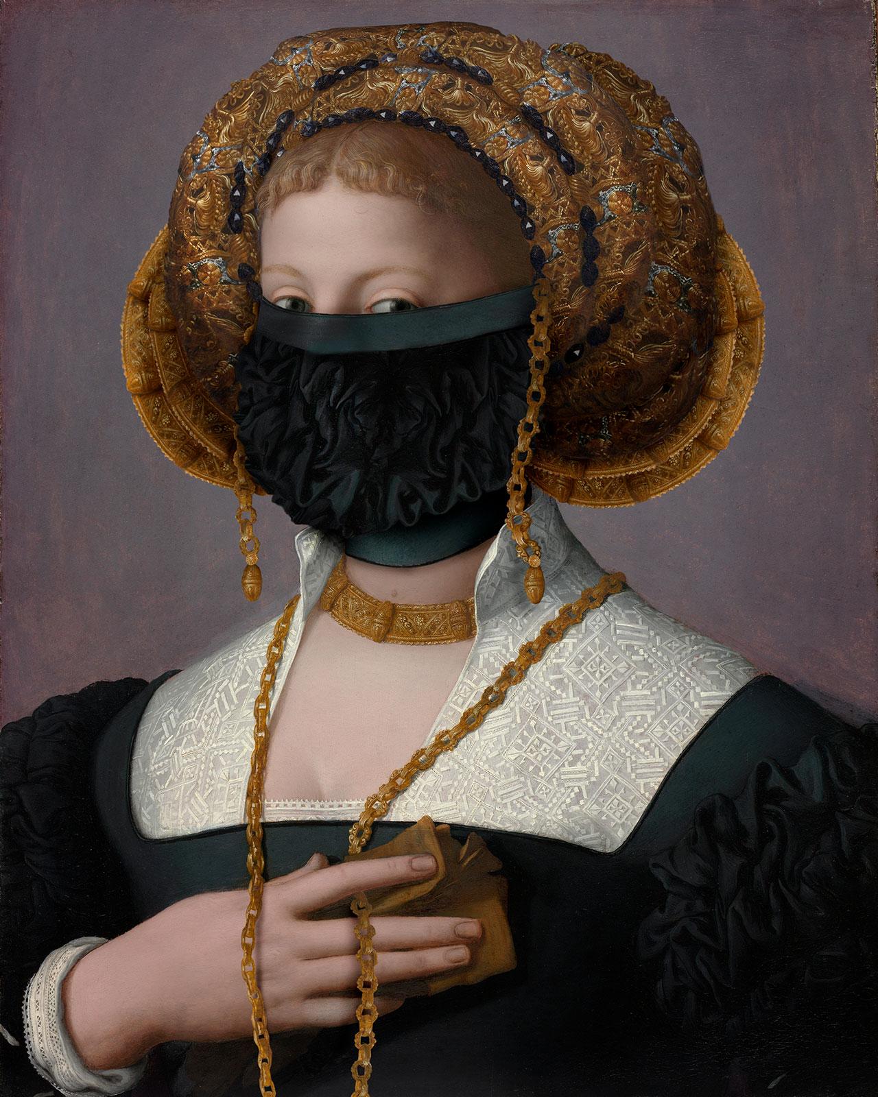 Volker Hermes,Hidden Bronzino IV, 2021.
