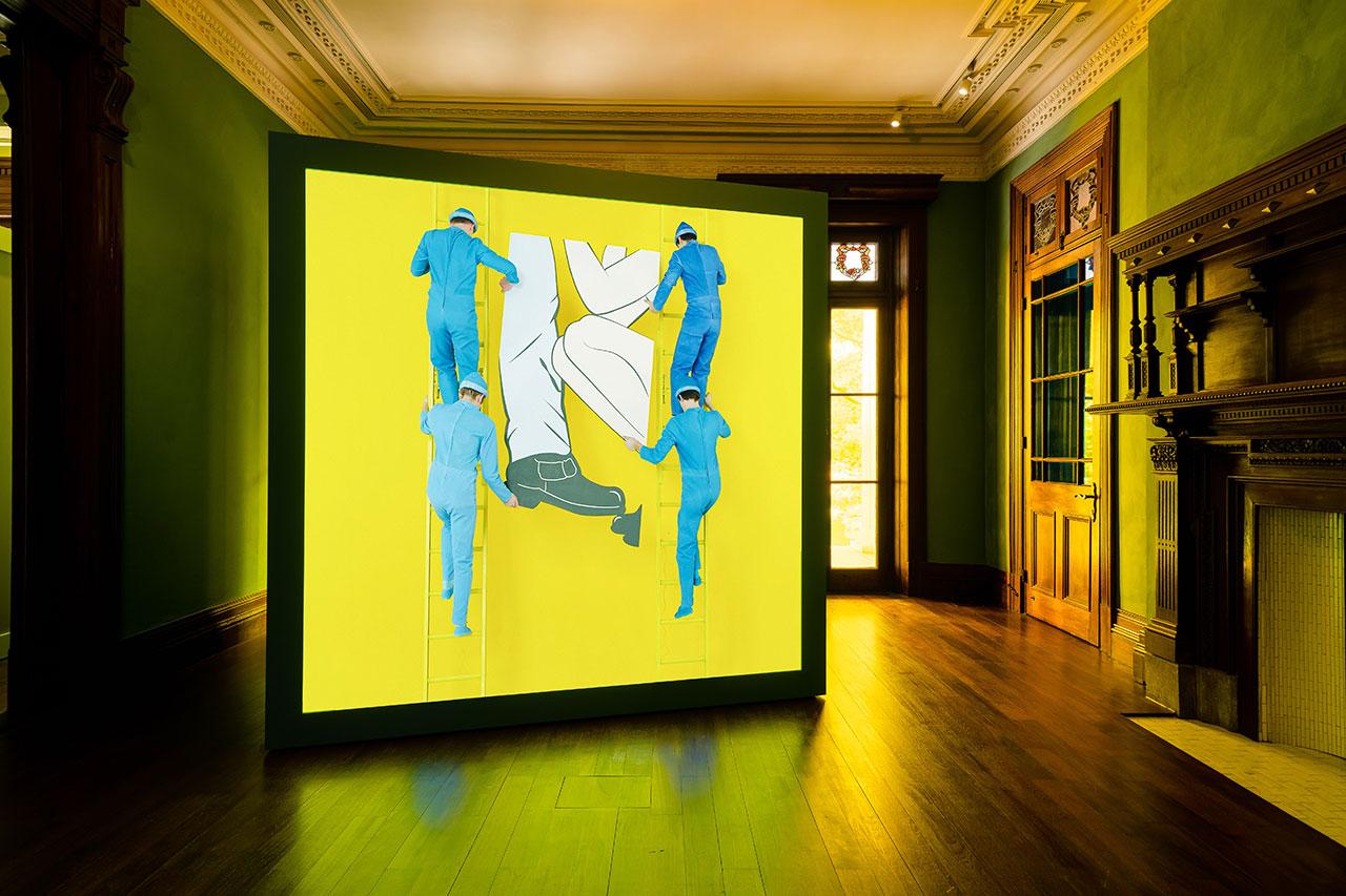 "Exhibition view of ""Rubber Pencil Devil"" by Alex Da Corte Prada Rong Zhai13 November 2020 - 17 January 2021 Photo: Alessandro Wang Courtesy Prada"