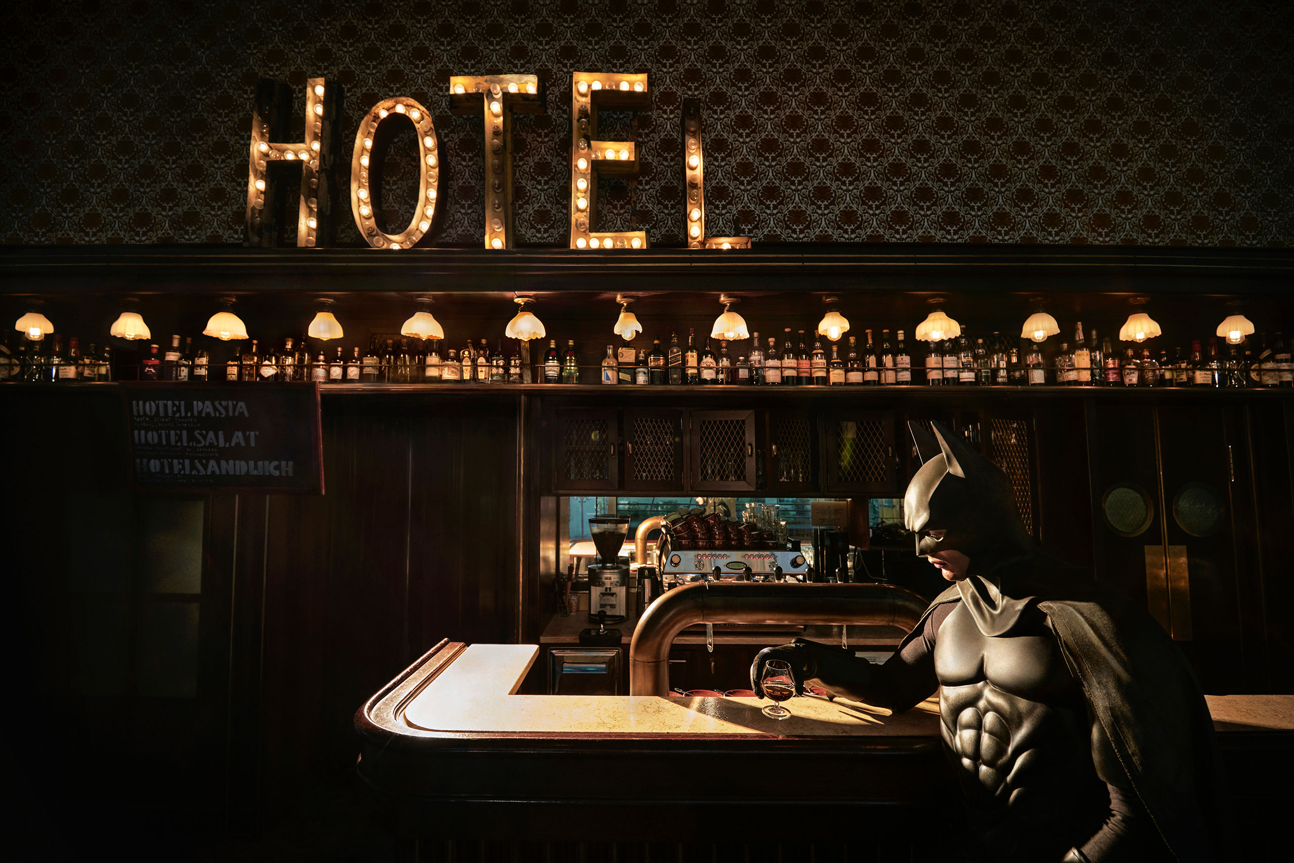 Daily Bat - Just a Drink. Photography by Sebastian Magnani.