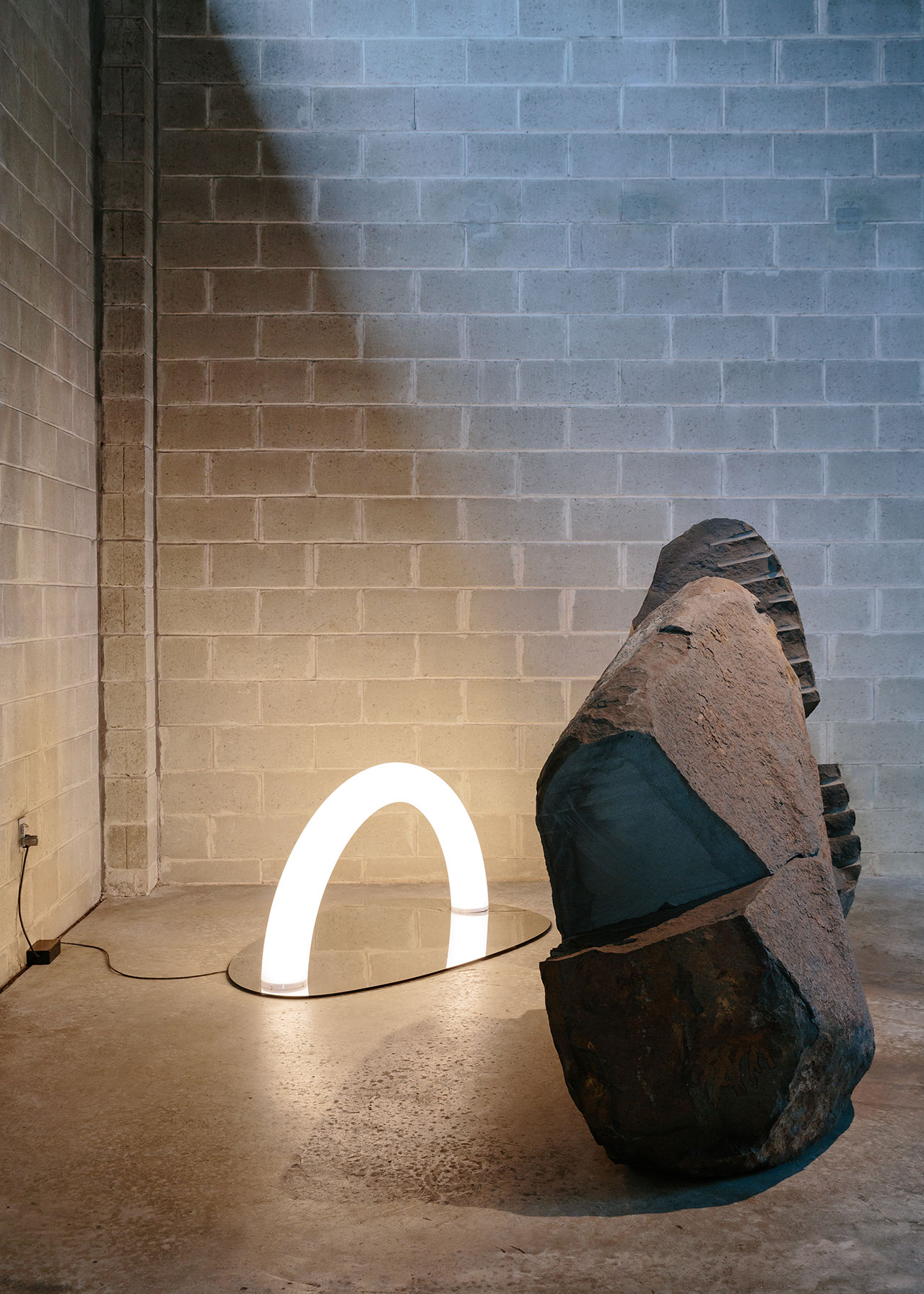 """Installation view. """"Objects of Common Interest: Hard, Soft, and All Lit Up with Nowhere to Go"""", Noguchi Museum, New York. Photography by Brian W. Ferry. Artworks © Objects of Common Interest and © The Isamu Noguchi Foundation and Garden Museum / Artists Rights Society"""