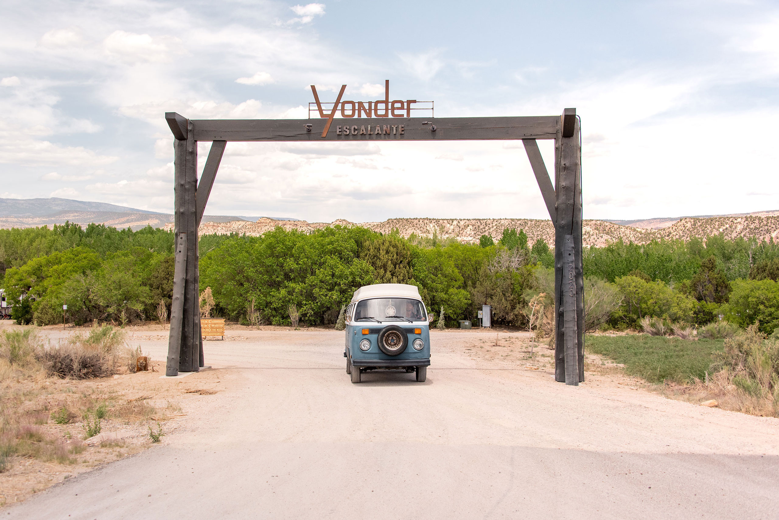 Yonder Sign.Photography by Kim and Nash Finley.