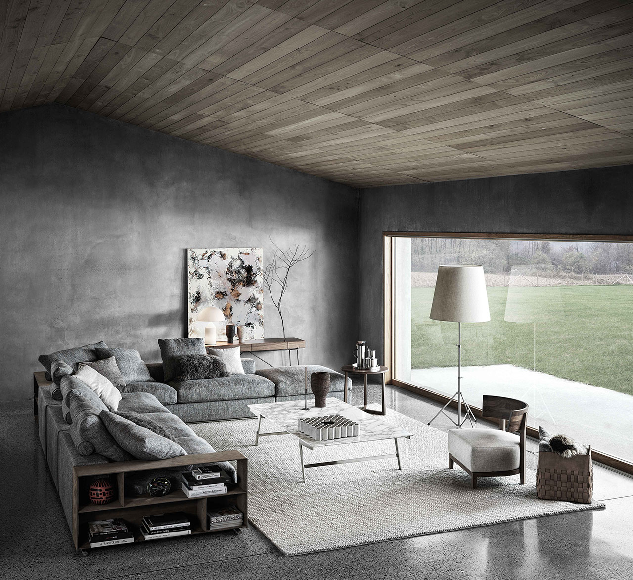 Groundpiece sofa by Antonio Citterio for Flexform. Photo© Flexform.