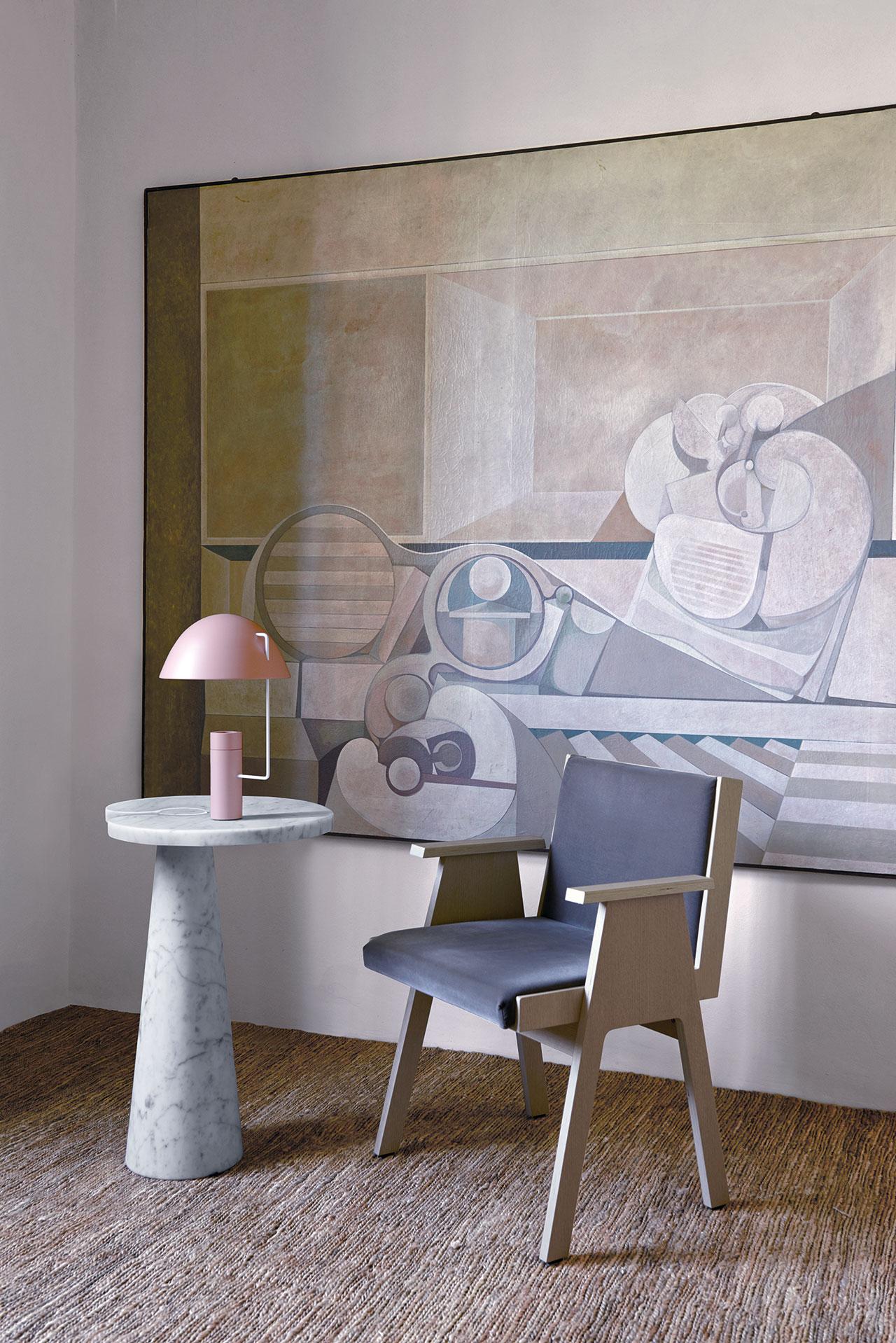 Eros table and Club 44 chair, The Mangiarotti Collection, Agapecasa© Agape